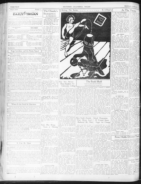 Daily Trojan, Vol. 23, No. 71, January 11, 1932