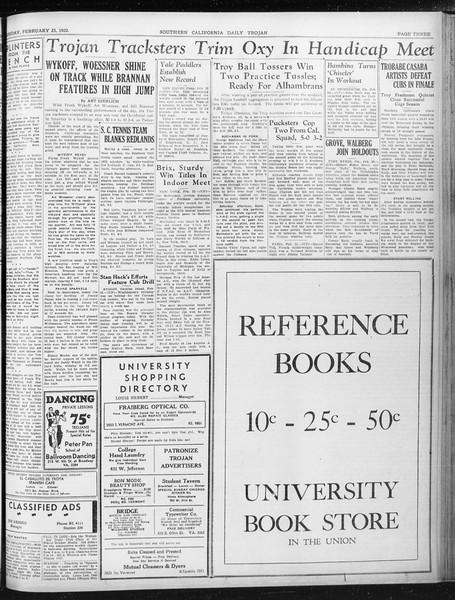Daily Trojan, Vol. 23, No. 93, February 23, 1932