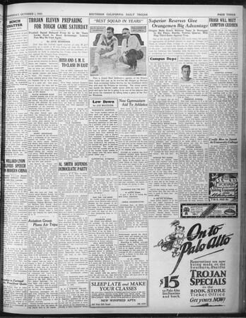 Daily Trojan, Vol. 22, No. 14, October 01, 1930