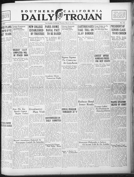 Daily Trojan, Vol. 22, No. 103, March 10, 1931