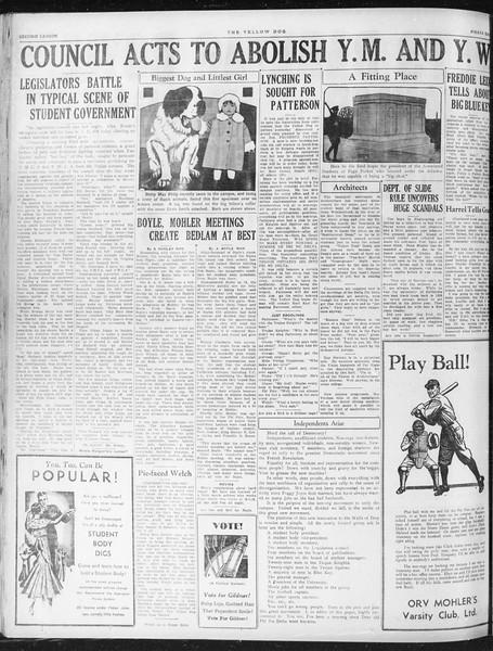 Daily Trojan, Vol. 23, No. 134, April 27, 1932