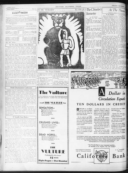 Daily Trojan, Vol. 23, No. 45, November 13, 1931