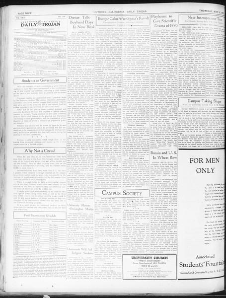 Daily Trojan, Vol. 22, No. 148, May 21, 1931
