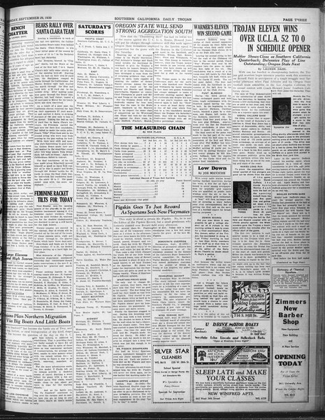Daily Trojan, Vol. 22, No. 12, September 29, 1930