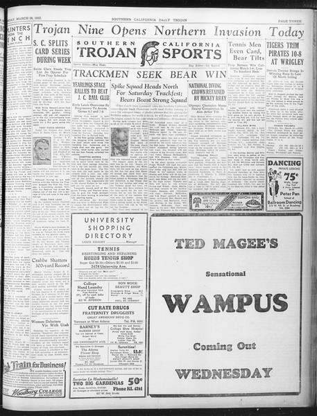 Daily Trojan, Vol. 23, No. 112, March 28, 1932