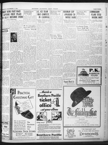 Daily Trojan, Vol. 22, No. 65, December 17, 1930