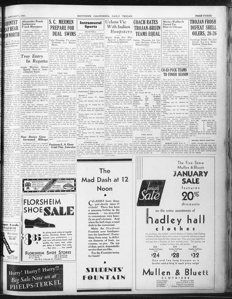 Daily Trojan, Vol. 22, No. 70, January 09, 1931