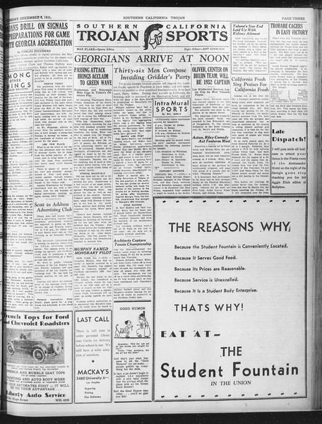 Daily Trojan, Vol. 23, No. 59, December 08, 1931