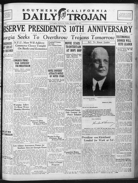 Daily Trojan, Vol. 23, No. 62, December 11, 1931