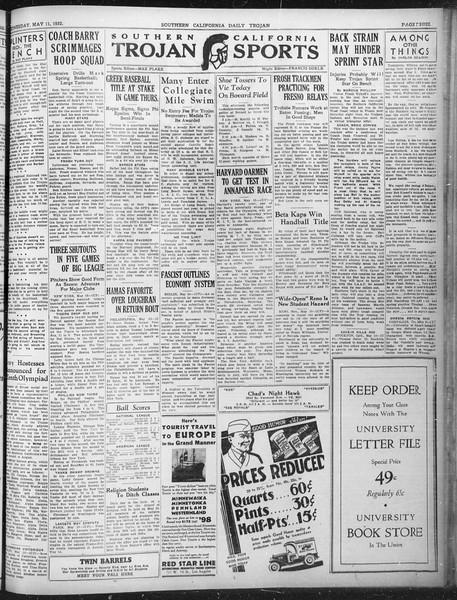 Daily Trojan, Vol. 23, No. 143, May 11, 1932