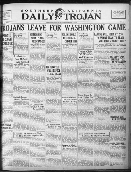 Daily Trojan, Vol. 22, No. 19, October 08, 1930