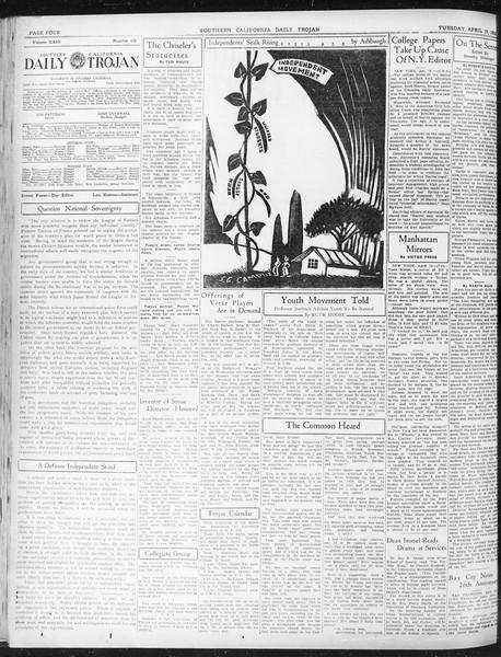 Daily Trojan, Vol. 23, No. 128, April 19, 1932