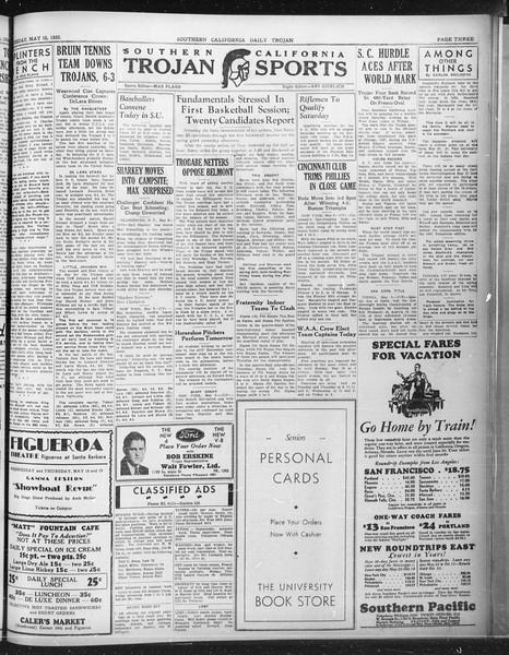Daily Trojan, Vol. 23, No. 142, May 10, 1932