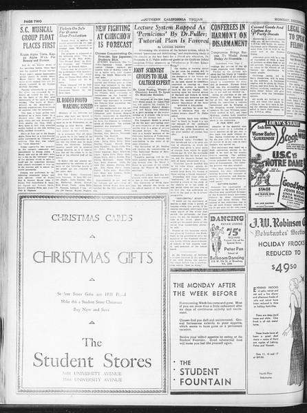 Daily Trojan, Vol. 23, No. 58, December 07, 1931
