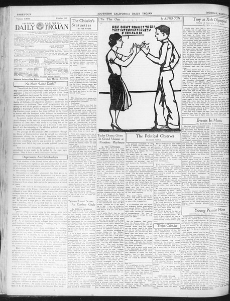 Daily Trojan, Vol. 23, No. 102, March 07, 1932