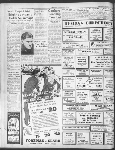 Daily Trojan, Vol. 28, No. 1, September 16, 1936