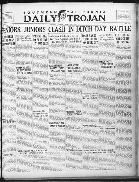 Daily Trojan, Vol. 22, No. 136, May 05, 1931