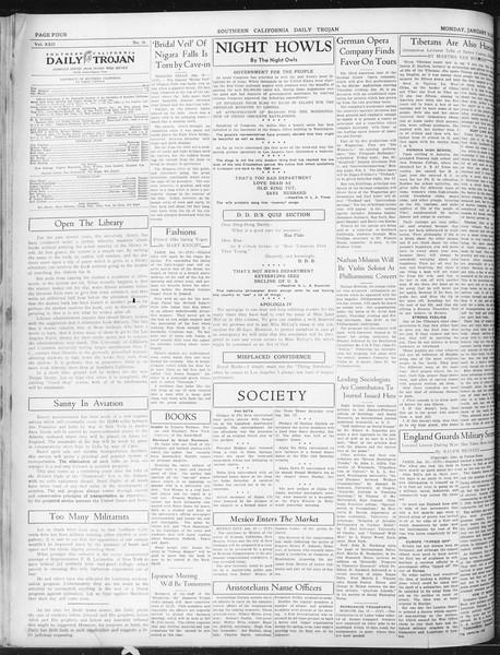 Daily Trojan, Vol. 22, No. 76, January 19, 1931