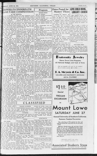 Southern California Trojan, Vol. 10, No. 2, June 25, 1931