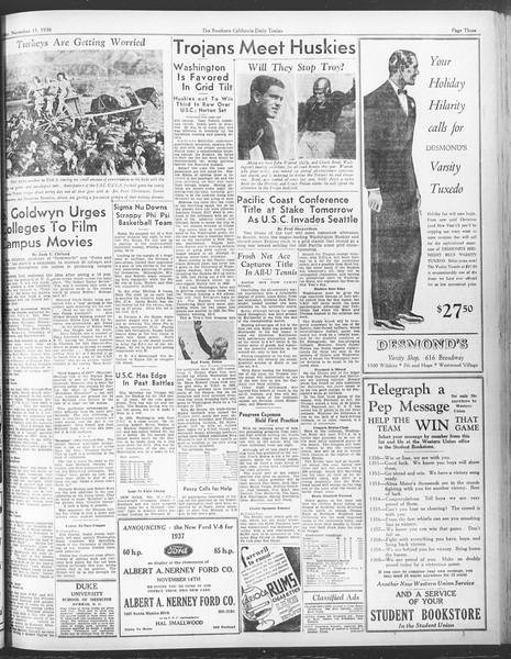 Daily Trojan, Vol. 28, No. 39, November 13, 1936