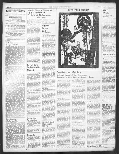 Daily Trojan, Vol. 29, No. 47, November 24, 1937
