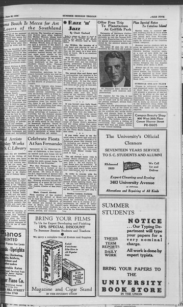 Summer Session Trojan, Vol. 15, No. 2, June 26, 1936