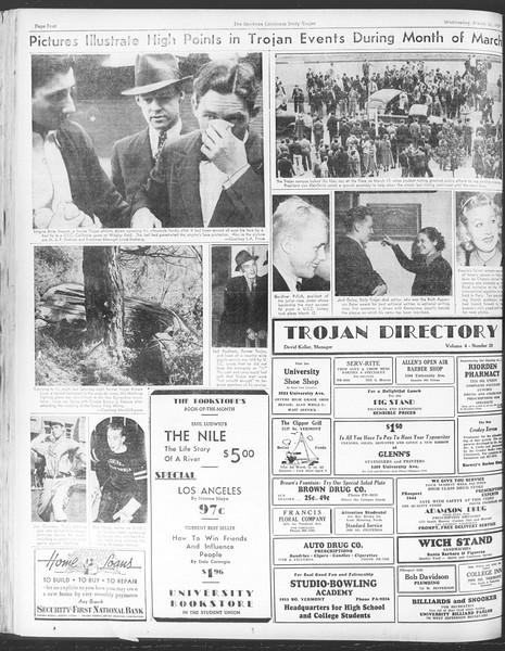 Daily Trojan, Vol. 28, No. 105, March 31, 1937