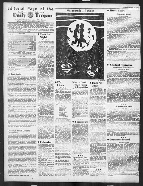 Daily Trojan, Vol. 27, No. 22, October 21, 1935