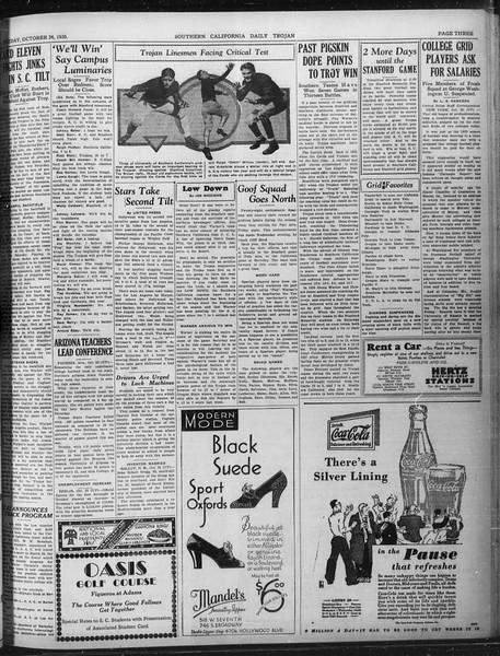 Daily Trojan, Vol. 22, No. 31, October 24, 1930