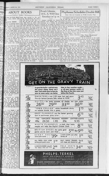 Southern California Trojan, Vol. 10, No. 3, June 30, 1931