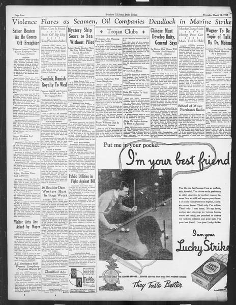 Daily Trojan, Vol. 26, No. 95, March 14, 1935