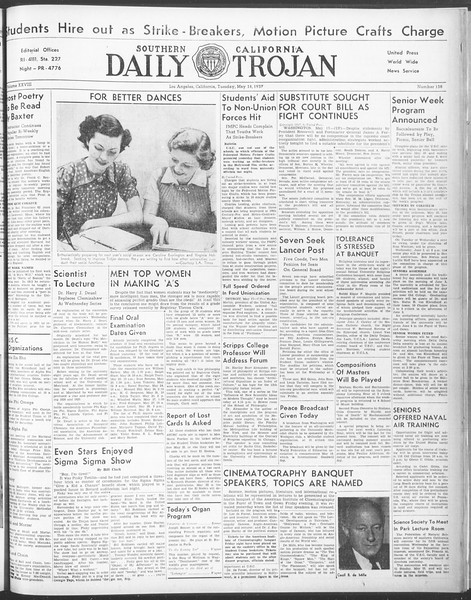 Daily Trojan, Vol. 28, No. 138, May 18, 1937