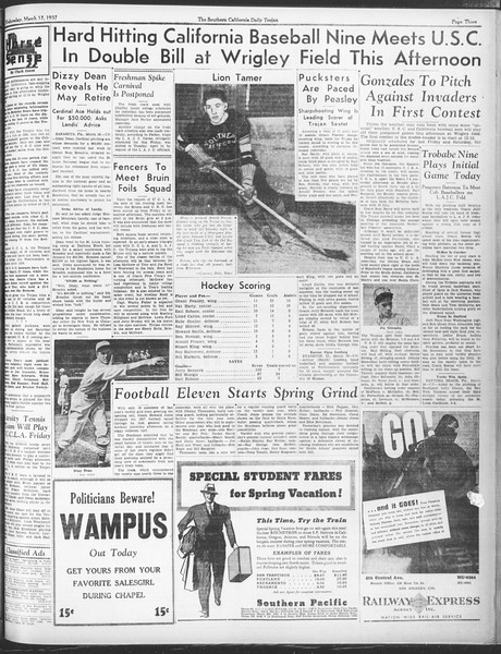 Daily Trojan, Vol. 28, No. 100, March 17, 1937