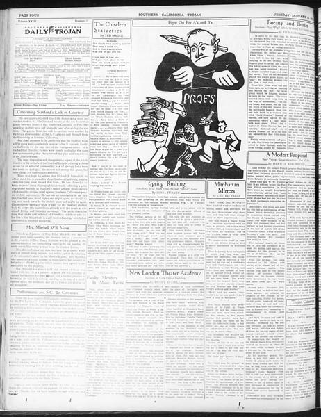 Daily Trojan, Vol. 23, No. 77, January 19, 1932