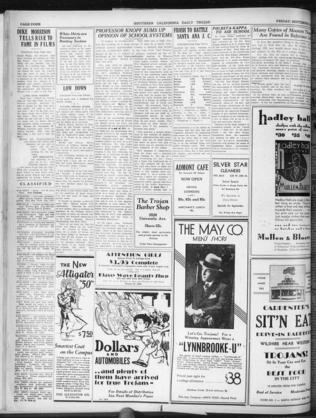 Daily Trojan, Vol. 22, No. 11, September 26, 1930