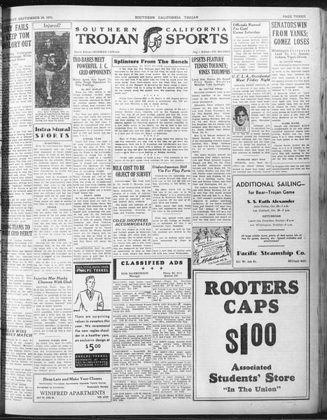 Daily Trojan, Vol. 23, No. 10, September 24, 1931