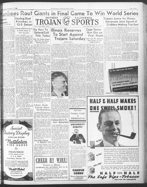 Daily Trojan, Vol. 28, No. 14, October 07, 1936