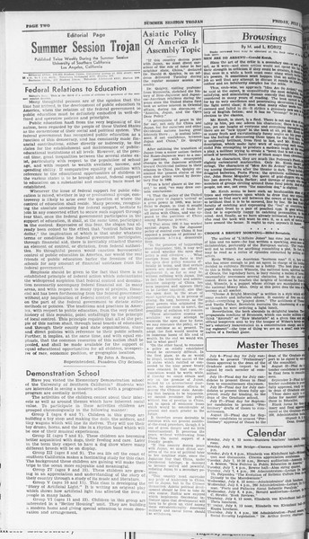 Summer Session Trojan, Vol. 15, No. 4, July 03, 1936