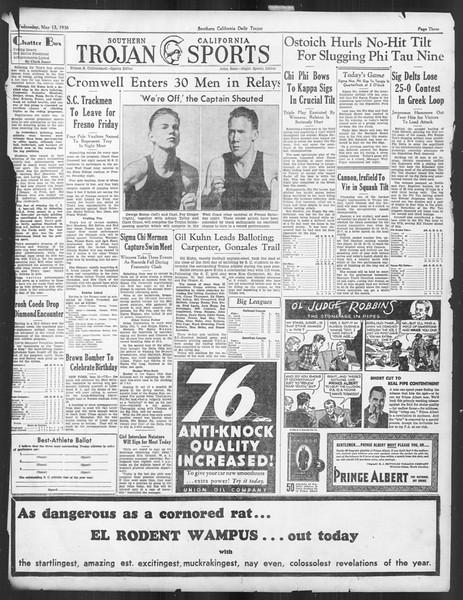 Daily Trojan, Vol. 27, No. 135, May 13, 1936