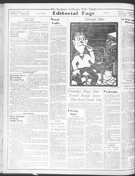 Daily Trojan, Vol. 28, No. 59, January 05, 1937