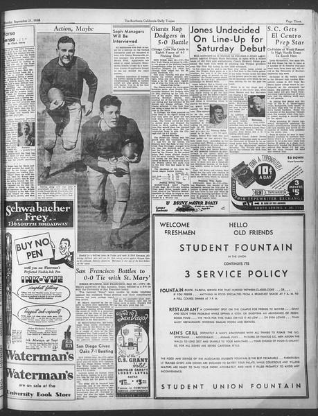 Daily Trojan, Vol. 28, No. 2, September 21, 1936