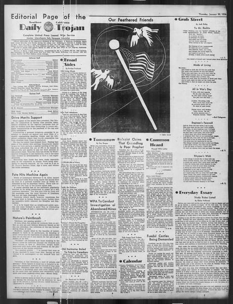 Daily Trojan, Vol. 27, No. 76, January 30, 1936