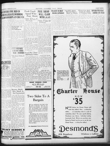 Daily Trojan, Vol. 22, No. 109, March 18, 1931