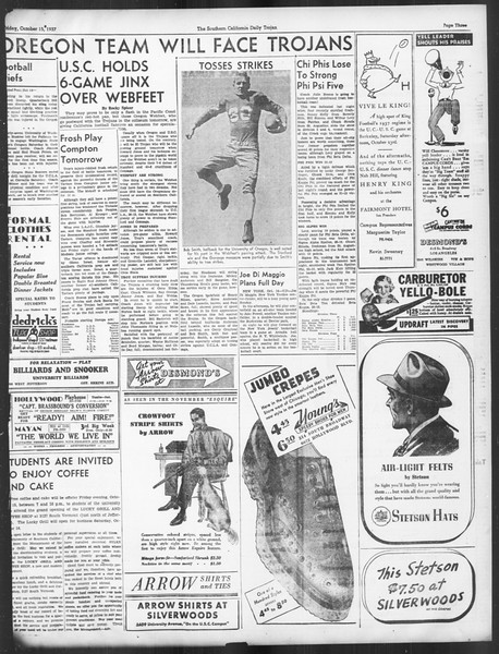 Daily Trojan, Vol. 29, No. 21, October 15, 1937