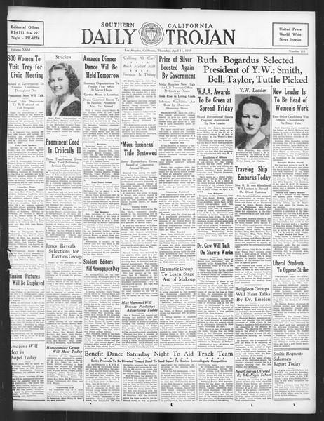 Daily Trojan, Vol. 26, No. 115, April 11, 1935