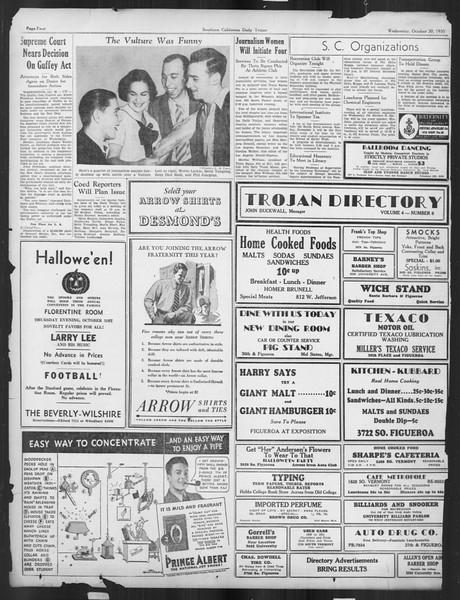 Daily Trojan, Vol. 27, No. 28, October 30, 1935