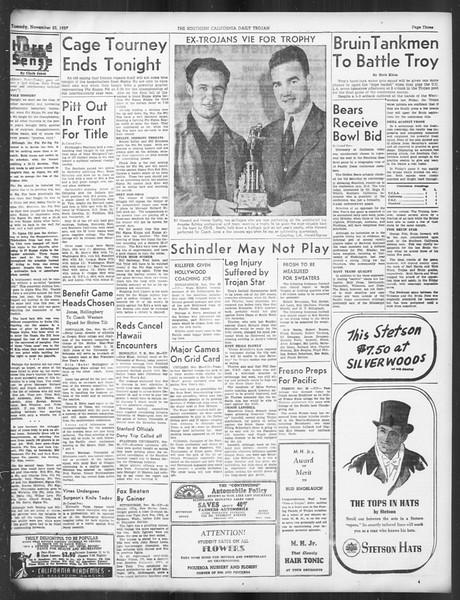 Daily Trojan, Vol. 29, No. 46, November 23, 1937