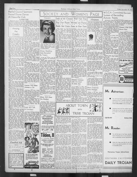 Daily Trojan, Vol. 27, No. 44, November 22, 1935