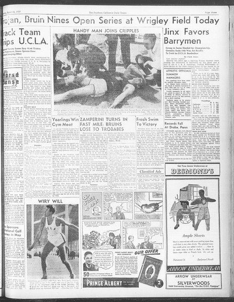 Daily Trojan, Vol. 28, No. 123, April 26, 1937