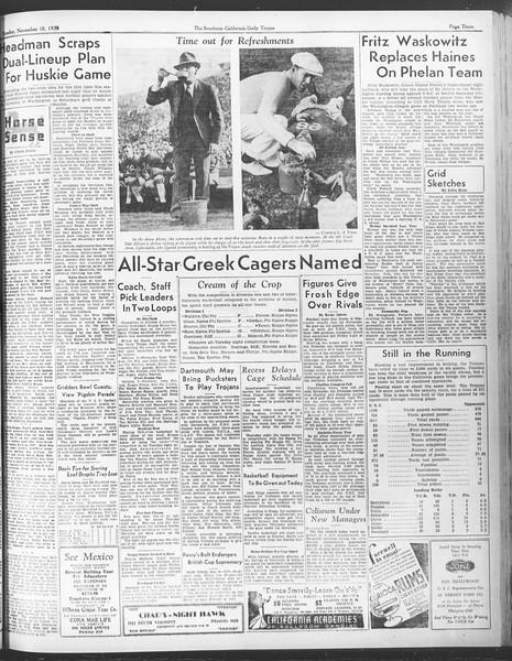 Daily Trojan, Vol. 28, No. 37, November 10, 1936
